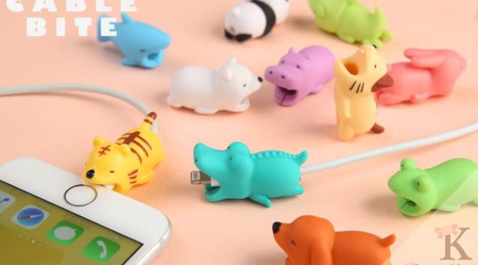 【ガブリ♪】動物モチーフ充電ケーブルの可愛さがすごい♪