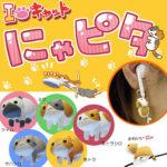 【よちよち♪】「にゃピタ」で猫ちゃんがイヤホンコード絡まりを防止♪