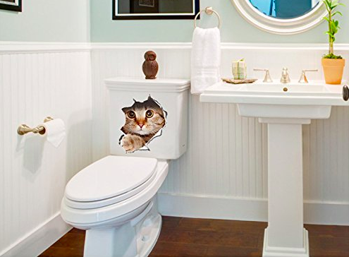 SNSでも話題♪飛び出す猫のウォールステッカーが可愛い♪