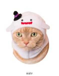 猫のかぶりもの,ハロウィン,おばけ