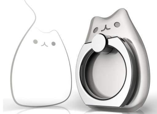 【萌えニャンコ】猫型スマホリングが見た目も可愛くとっても便利♪