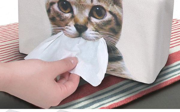 【猫のティッシュカバー】可愛いデザインでお部屋がモフモフに♪
