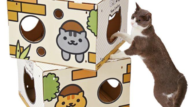 【ねこあつめデザイン】BOXタワーダンボールハウスが可愛すぎる♪